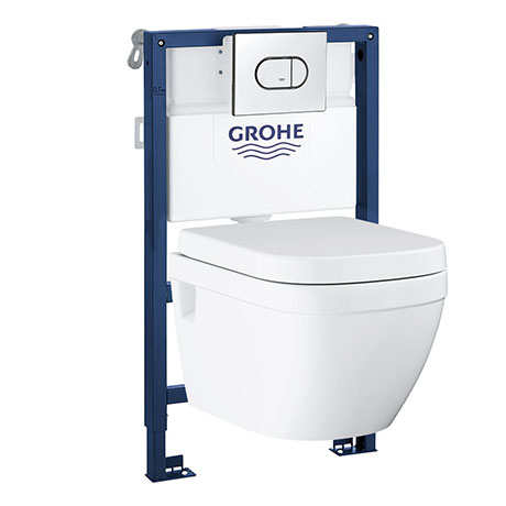 Grohe Solido 0.82m Frame / Euro Rimless Complete WC 5 in 1 Pack