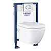 Grohe Solido 0.82m Frame / Euro Rimless Complete WC 5 in 1 Pack profile small image view 1