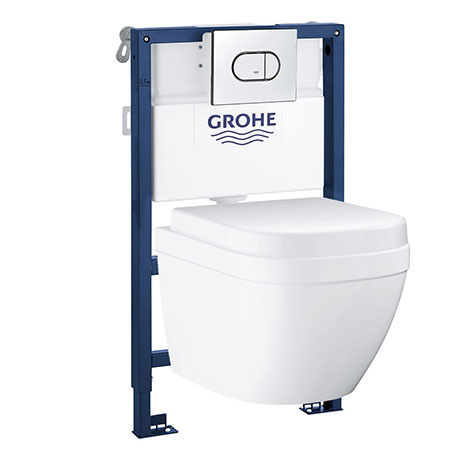 Grohe Solido 0.82m Frame / Euro Compact Rimless Complete WC 5 in 1 Pack