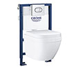 Grohe Solido 0.82m Frame / Euro Compact Rimless Complete WC 5 in 1 Pack profile small image view 1