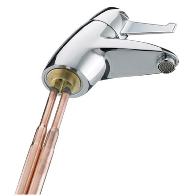Bristan - Solo Basin Mixer with Short Lever with Copper Tails - SOLO-T3SLCOP profile large image view 2