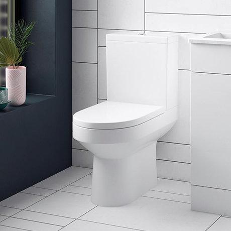 Sol Close Coupled Rimless Toilet + Soft Close Seat