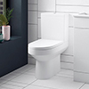 Sol Close Coupled Rimless Toilet + Soft Close Seat profile small image view 1