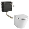 Solace Back to Wall Toilet with Soft Close Seat + Concealed Cistern profile small image view 1