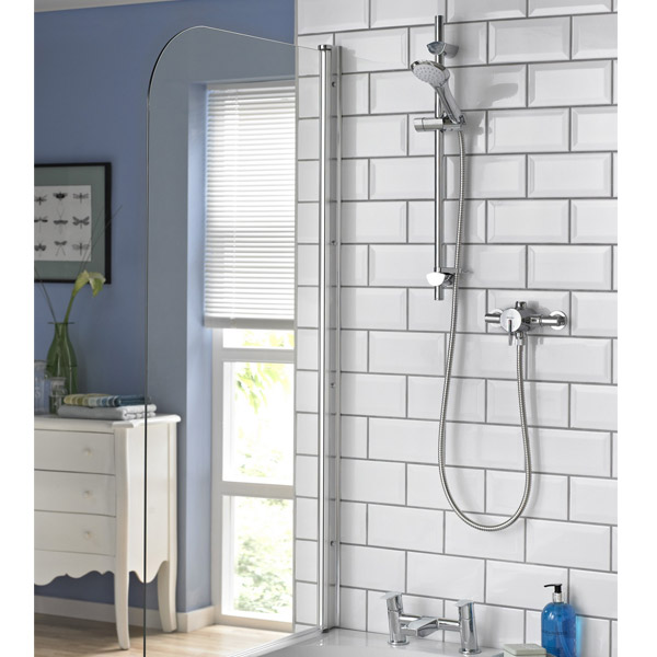 Bristan - Sonique2 Exposed Thermostatic Surface Mounted Shower Valve with Adjustable Riser Profile Large Image