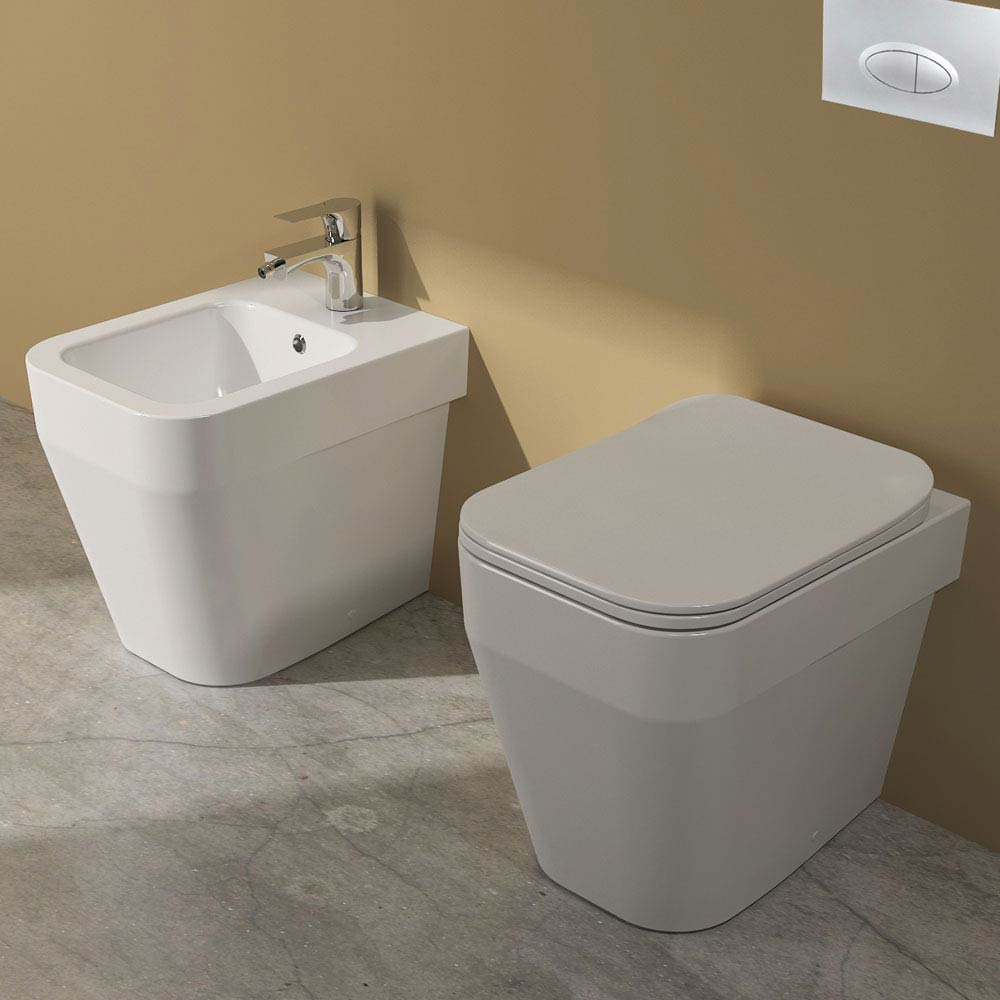Isvea Sott Aqua Back to Wall WC + Soft Close Seat  Feature Large Image