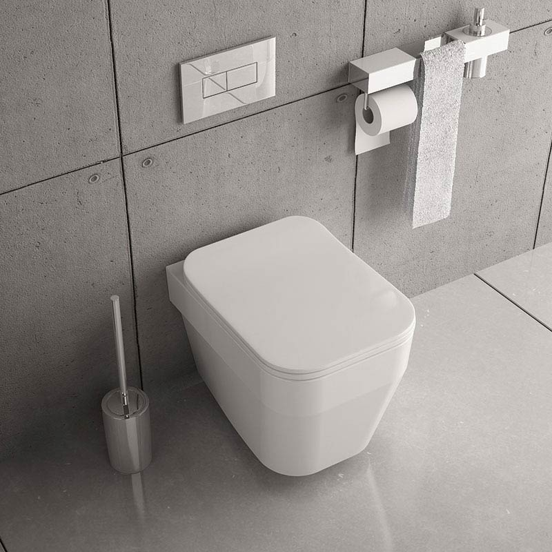 Isvea Sott Aqua Wall Hung Pan + Soft Close Seat  Profile Large Image