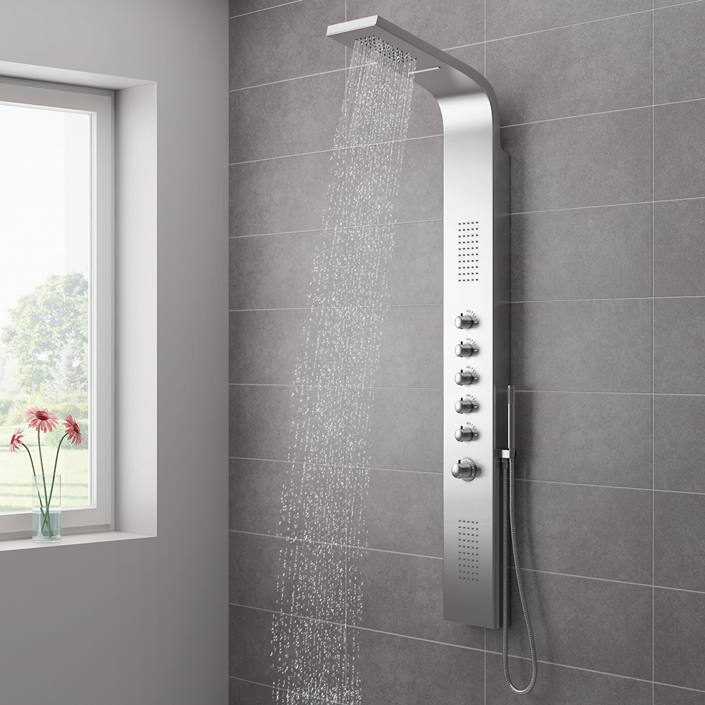 Milan Shower Tower Panel - Stainless Steel | Shower Towers: What They Are & Why You'll Want One