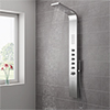 Milan Shower Tower Panel - Stainless Steel (Thermostatic) profile small image view 1