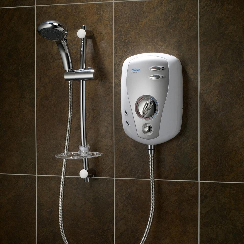 Triton T100xr 10.5kw Slimline Electric Shower profile large image view 3