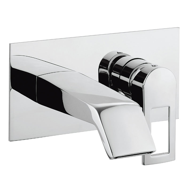 Crosswater - Slip Wall Mounted 2 Hole Set Basin Mixer - SP121WNC Large Image
