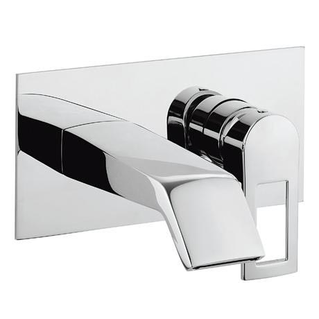 Crosswater - Slip Wall Mounted 2 Hole Set Basin Mixer - SP121WNC