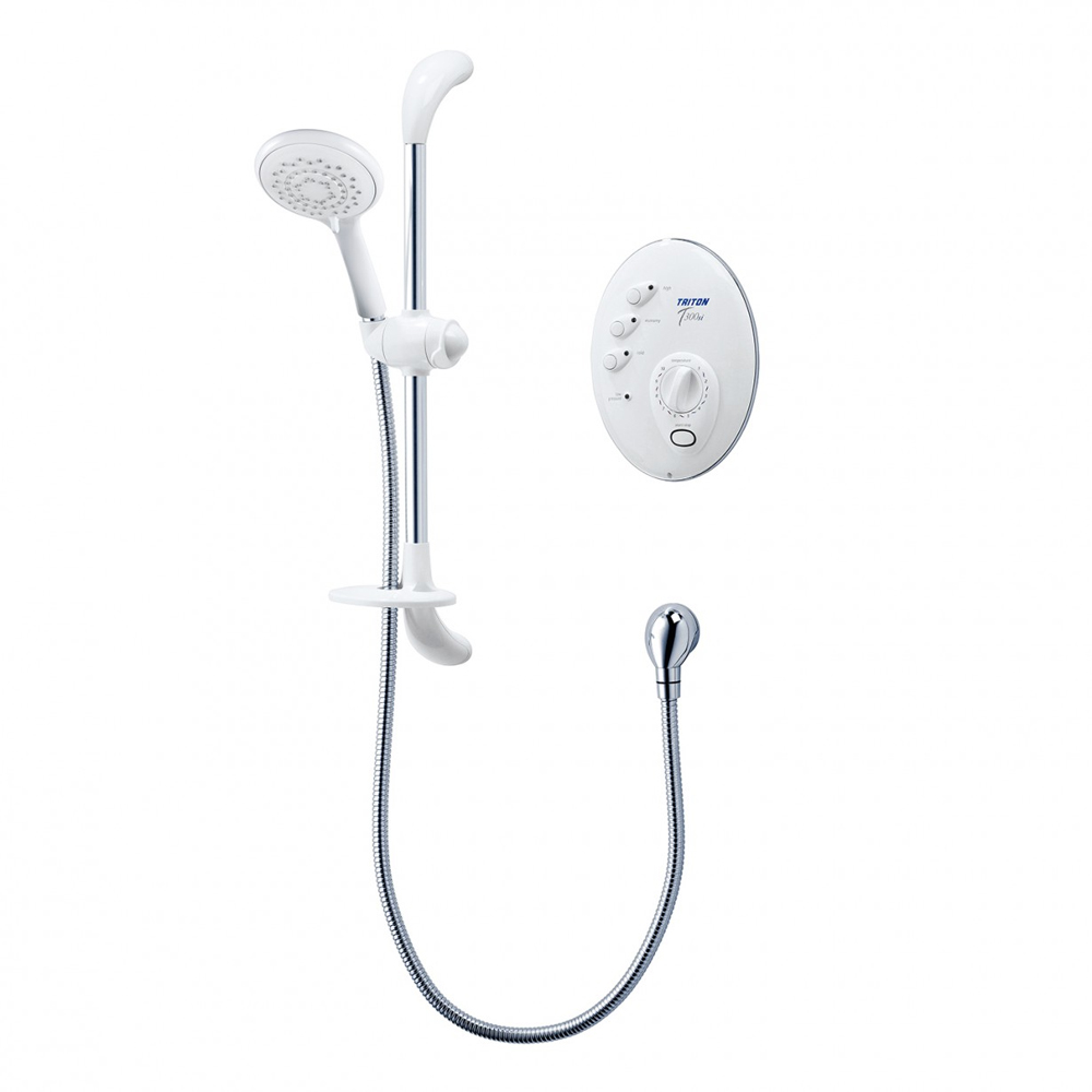 Triton T300si 8.5kw Remote Electric Shower - White/Chrome profile large image view 1
