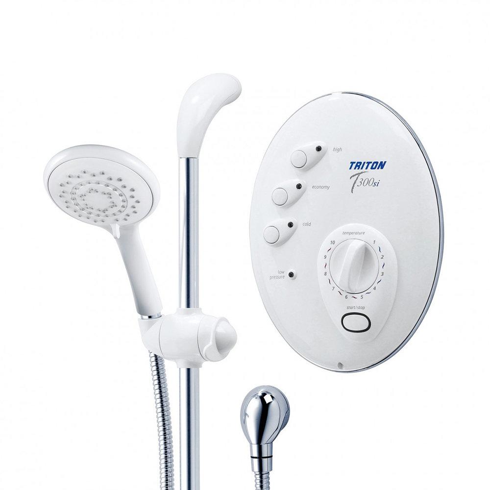 Triton T300si 9.5kw Remote Electric Shower - White/Chrome profile large image view 2