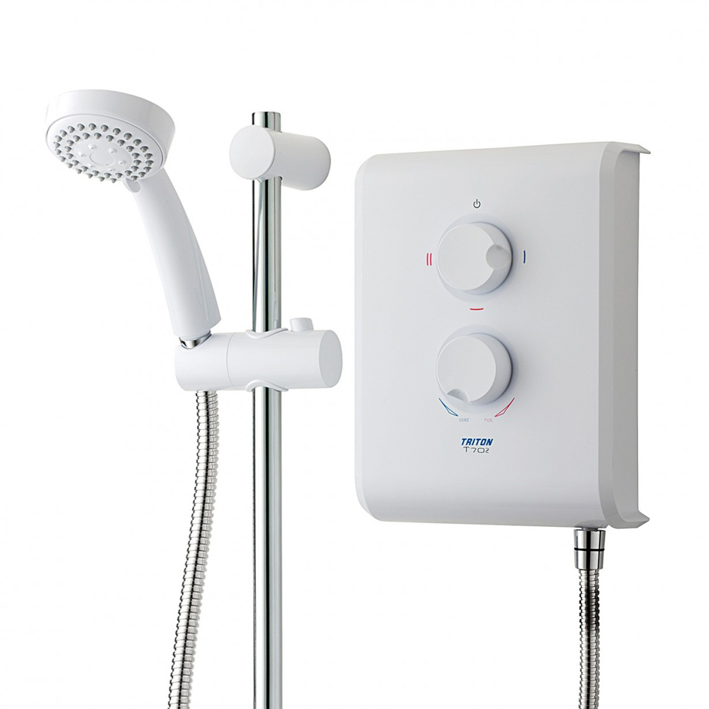 Triton T70z 7.5 kw Electric Shower - White/Chrome - SP7007Z profile large image view 3