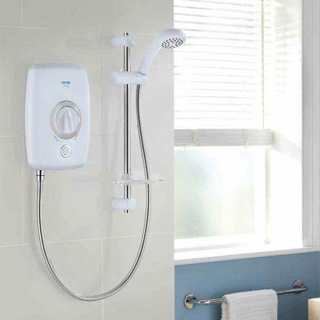 Triton T75 8.5kw Electric Shower - White/Chrome - SP7508SC profile large image view 3