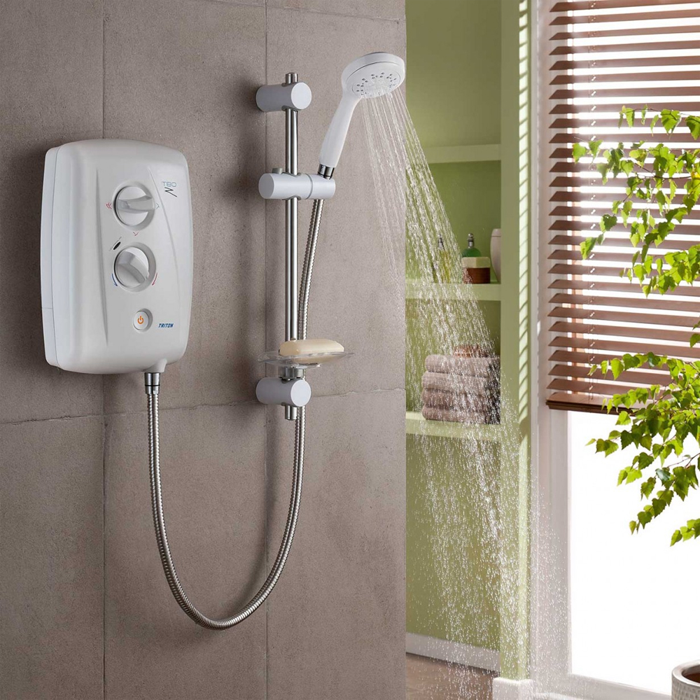 Triton T80Z 10.5 kW Fast-Fit Electric Shower - White/Chrome - SP8001ZFF profile large image view 3