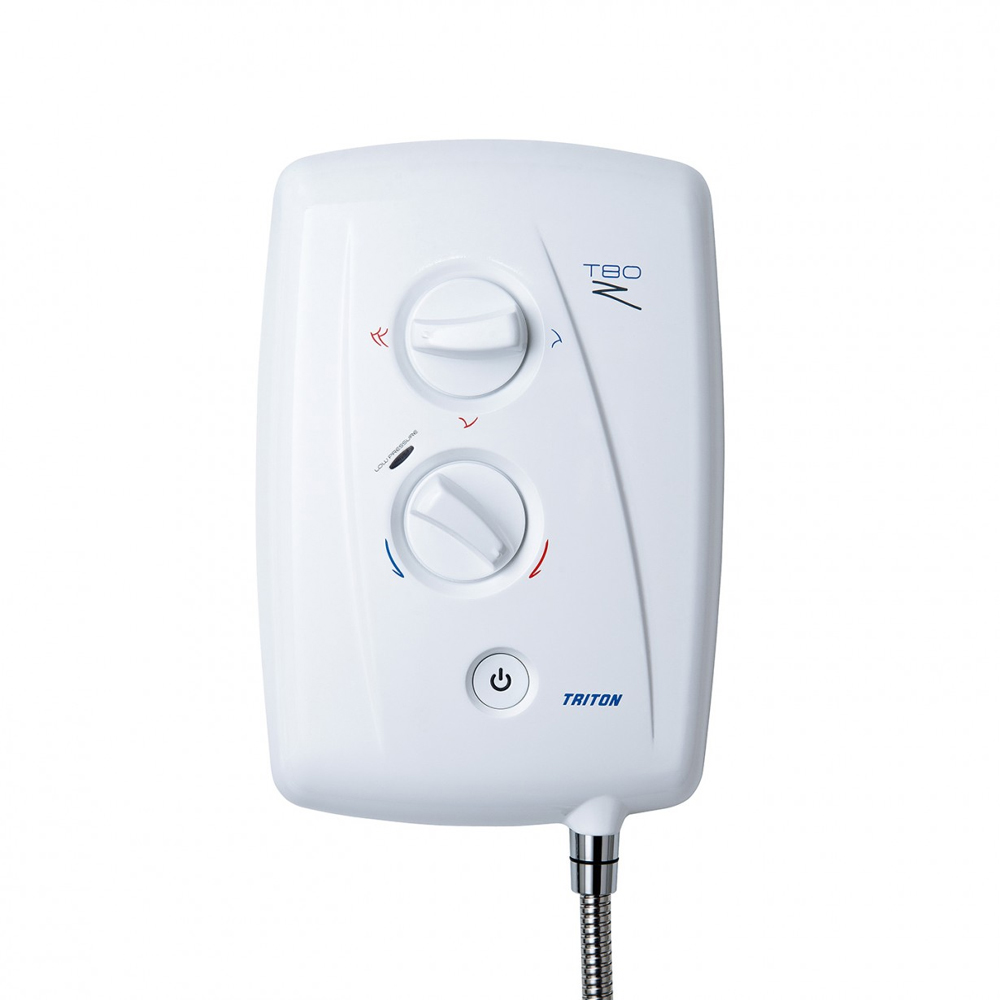 Triton T80Z 7.5 kW Fast-Fit Electric Shower - White/Chrome - SP8007ZFF profile large image view 4