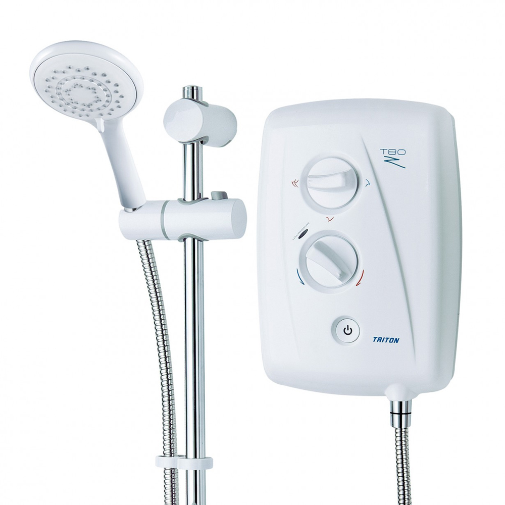 Triton T80Z 7.5 kW Fast-Fit Electric Shower - White/Chrome - SP8007ZFF profile large image view 6