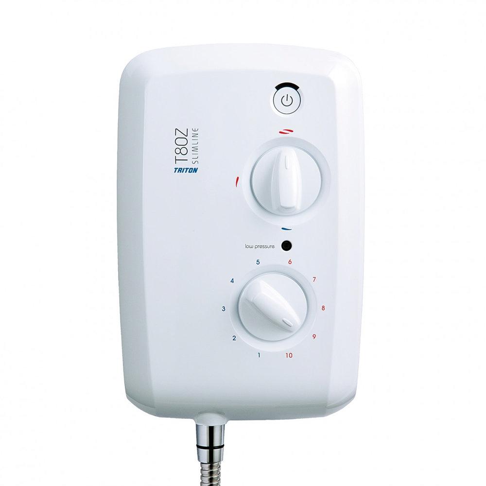 Triton - T80z Slimline 9.5 kw Electric Shower - White-Chrome - SP8009ZSLM profile large image view 4
