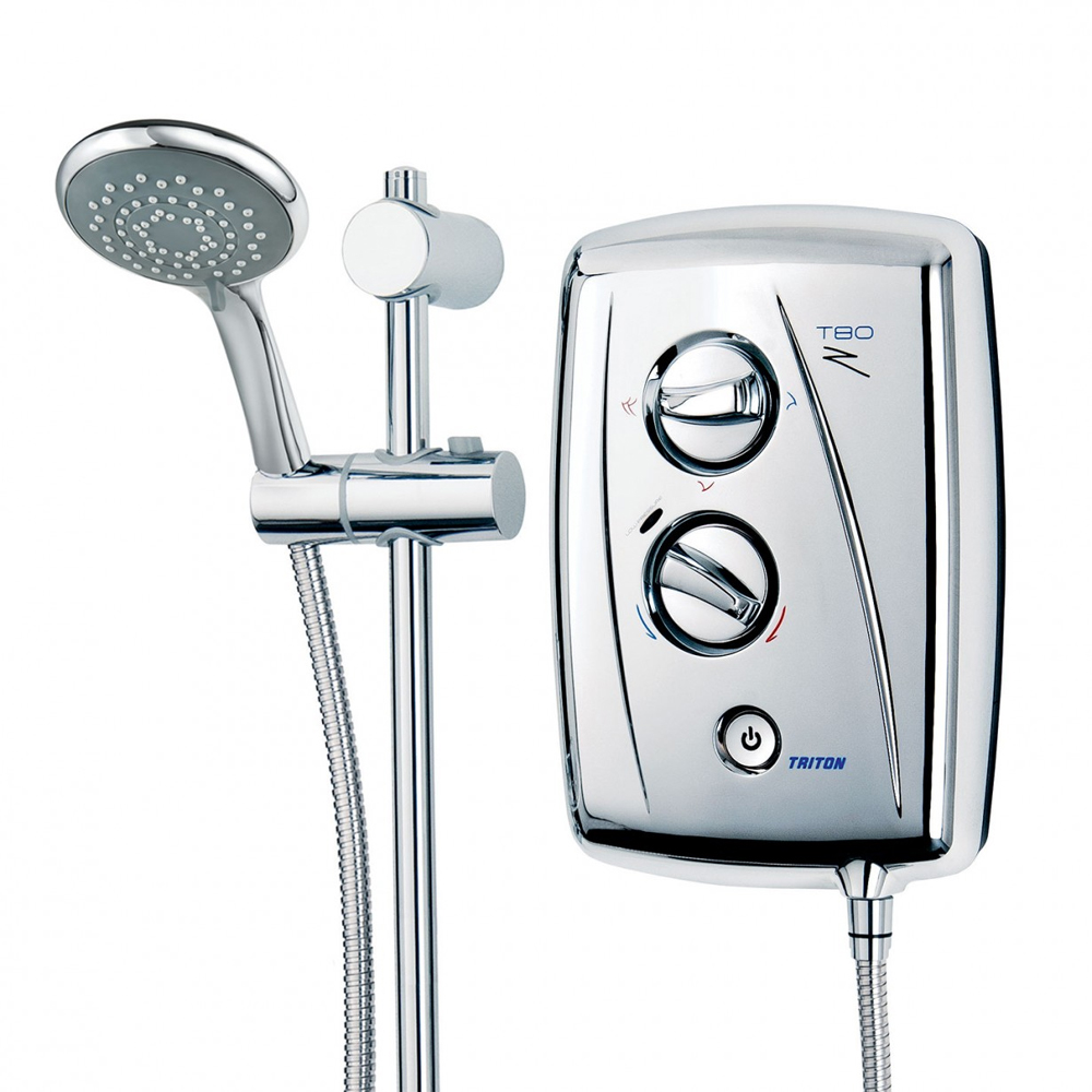 Triton T80Z 9.5 kW Fast-Fit Electric Shower - Chrome - SP8CHR9ZFF profile large image view 5
