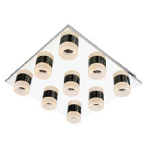 Forum Rhea LED 9 Light Acrylic Ring Bathroom Flush Ceiling Fitting - SPA-23533-CHR Medium Image