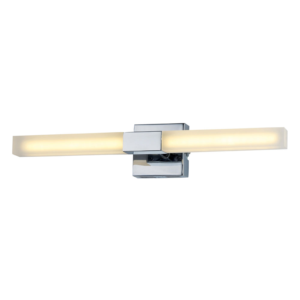 Forum Pandora LED Acrylic Twin Bathroom Wall Light - SPA-23536-CHR Large Image