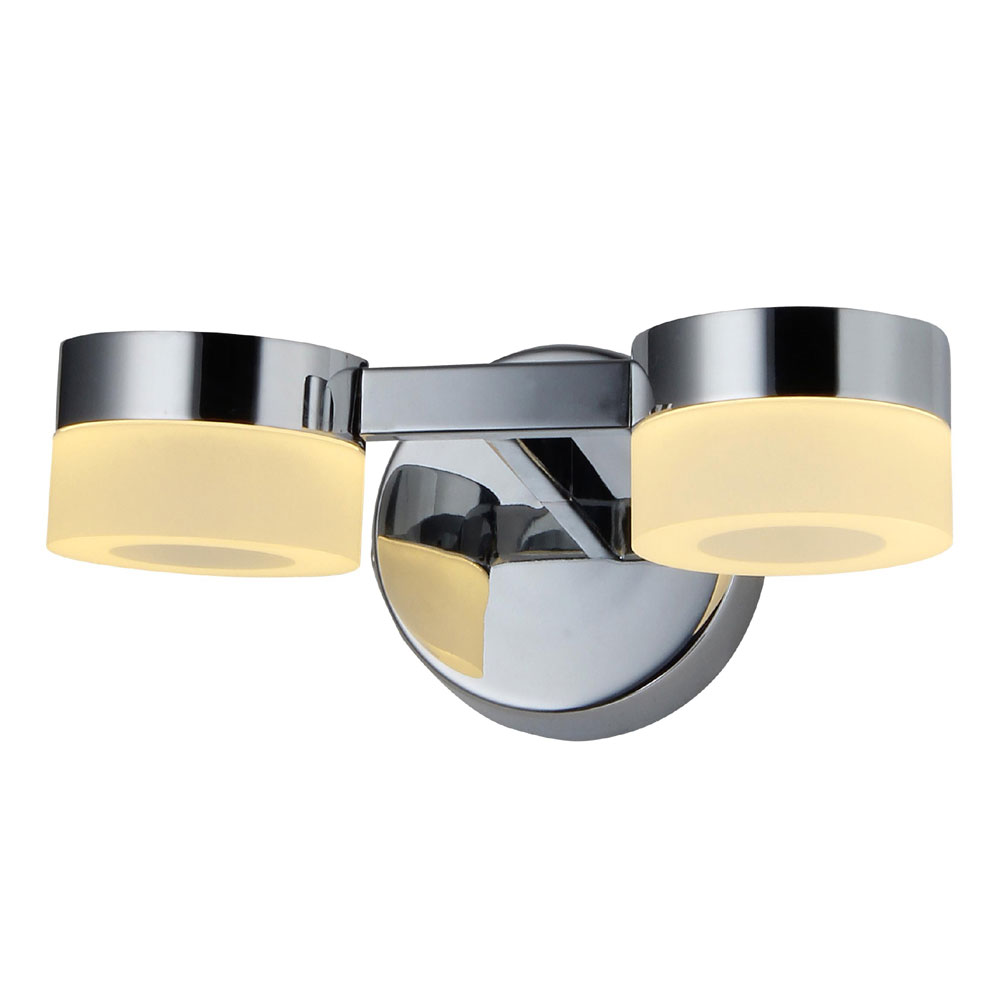 Forum Rhea LED Acrylic Ring Twin Wall Light - SPA-23618-CHR profile large image view 1