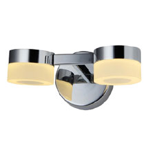 Forum Rhea LED Acrylic Ring Twin Wall Light - SPA-23618-CHR Medium Image