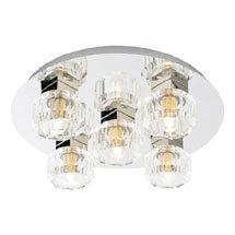 Forum Octans 5 Light Flush Ceiling Fitting - SPA-24675-CHR Medium Image