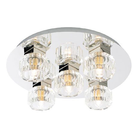 Forum Octans 5 Light Flush Ceiling Fitting - SPA-24675-CHR