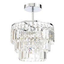 Forum Belle 3 Light Flush Ceiling Fitting - SPA-24678-CHR Medium Image