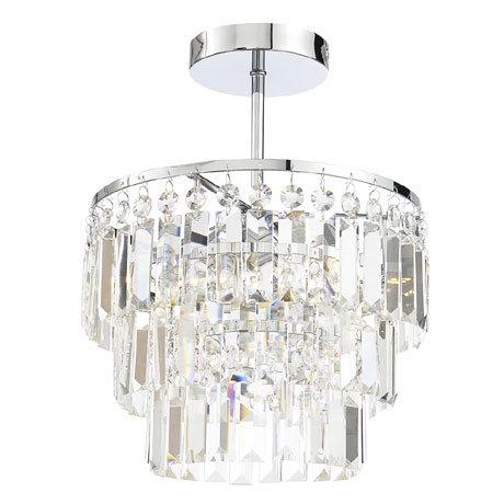 Forum Belle 3 Light Flush Ceiling Fitting - SPA-24678-CHR