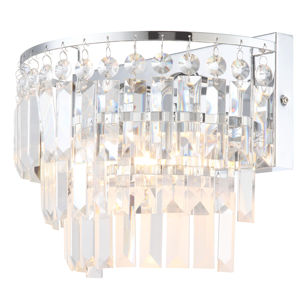 Forum Belle 2 Light Wall Fitting - SPA-24679-CHR Large Image