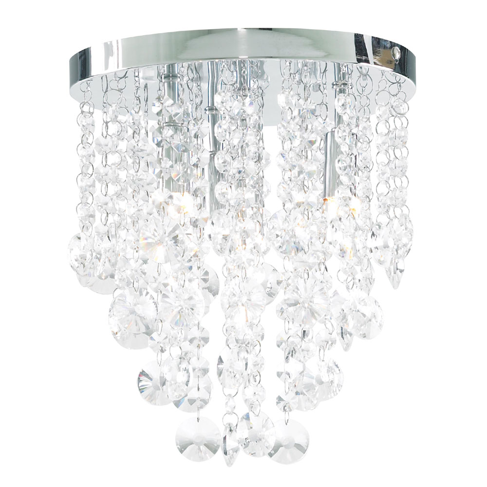 Forum Celeste 4 Light Flush Ceiling Fitting - SPA-24869-CHR Large Image