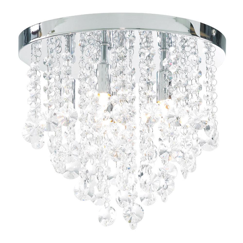Forum Celeste 6 Light Flush Ceiling Fitting - SPA-24870-CHR profile large image view 1