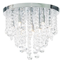 Forum Celeste 9 Light Flush Ceiling Fitting - SPA-24871-CHR Medium Image