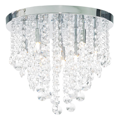 Forum Celeste 9 Light Flush Ceiling Fitting - SPA-24871-CHR