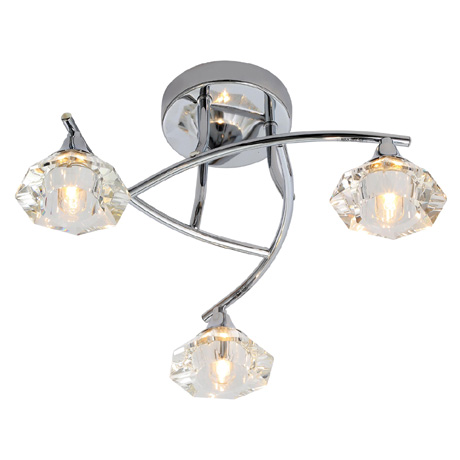 Forum Reena 3 Light Ceiling Fitting - SPA-28326-CHR