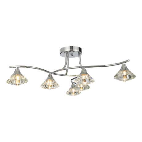Forum Reena 6 Light Ceiling Fitting - SPA-28327-CHR