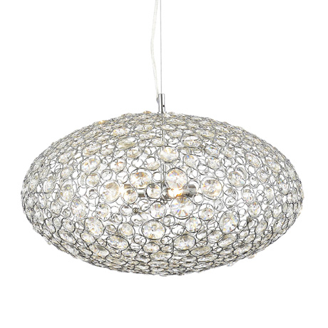 Forum Ovus Large Oval Pendant Ceiling Light Fitting - SPA-28727-CHR