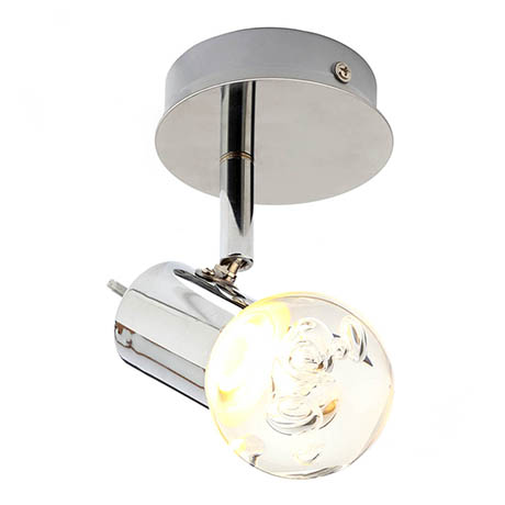 Forum Bubble LED Single Spotlight IP44 Chrome - SPA-30781-CHR