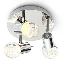 Forum Bubble LED 3-Light Spotlight IP44 Chrome - SPA-30782-CHR