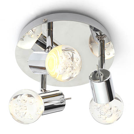 Forum Bubble LED 3-Light Spotlight IP44 Chrome - SPA-30782-CHR