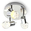 Forum Bubble LED 3-Light Spotlight IP44 Chrome - SPA-30782-CHR profile small image view 1