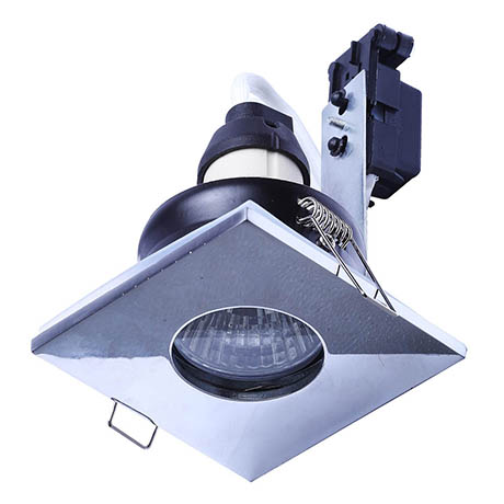 Forum Cali IP65 Fixed Square Downlight - Chrome - SPA-30844-CHR