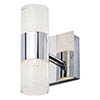 Forum Oslo Chrome LED Crackle Wall Light - SPA-31730-CHR profile small image view 1