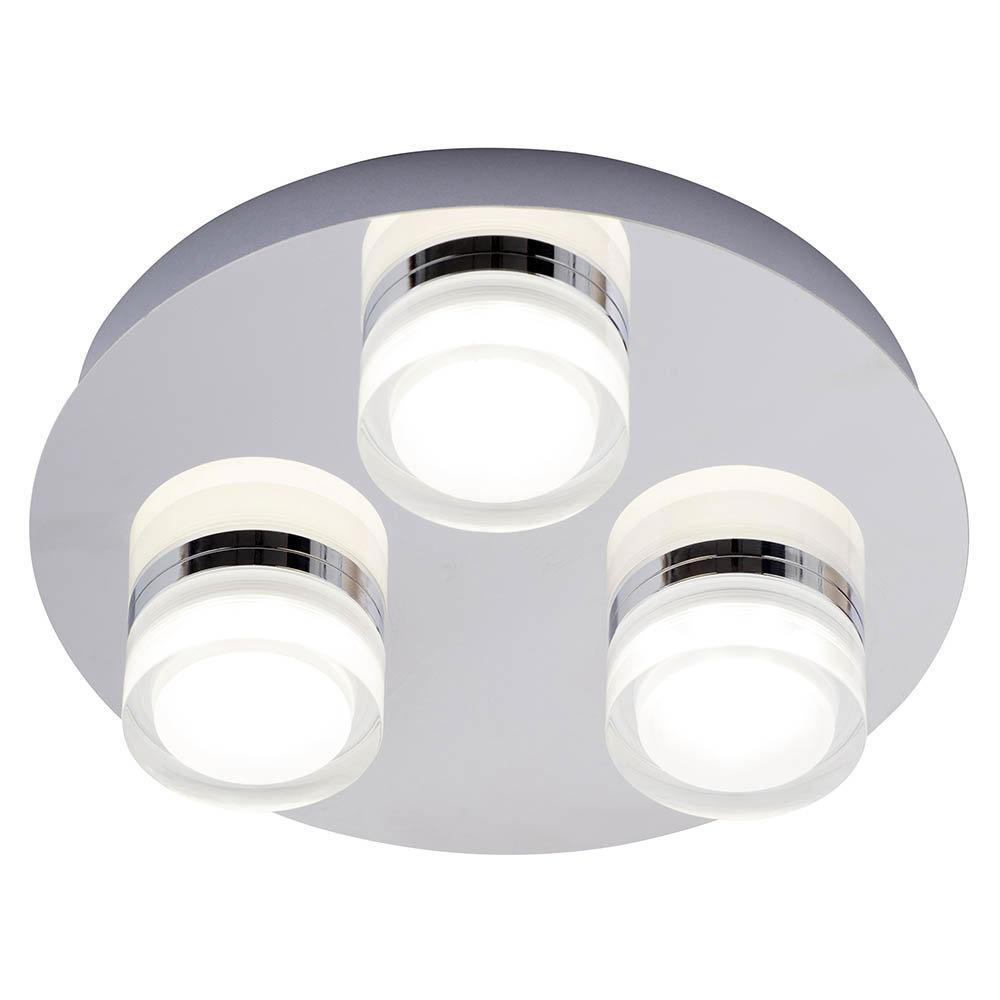 Forum Amalfi Chrome Led 3 Light Flush Ceiling Fitting Spa 31736 Chr