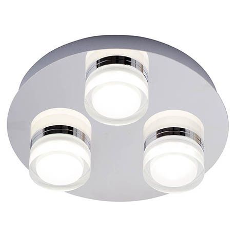 Forum Amalfi Chrome LED 3 Light Flush Ceiling Fitting - SPA-31736-CHR