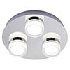 Forum Amalfi Chrome LED 3 Light Flush Ceiling Fitting - SPA-31736-CHR profile small image view 1